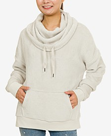Juniors' Plush Funnel-Neck Sweatshirt