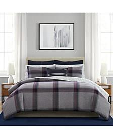 3 Piece Heritage Tartan Full/Queen Mini Comforter Set
