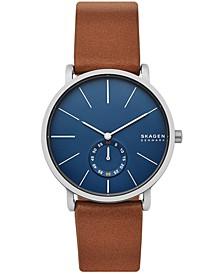 Men's Hagen Brown Leather Strap Watch 40mm