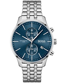 HUGO Men's Chronograph Associate Stainless Steel Bracelet Watch 42mm