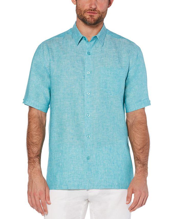 Cubavera - Men's Carmine Linen Short-Sleeve Shirt