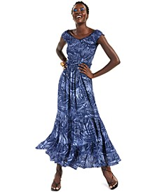 INC Printed Off-The-Shoulder Maxi Dress, Created for Macy's