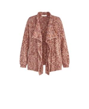 Women's Plus Size Long Sleeve Cascading Cardigan