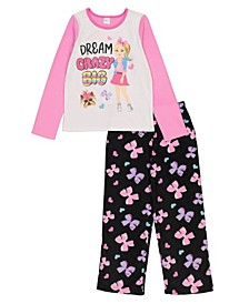 JoJo Big and Little Girls 2 Pieces Fleece Set
