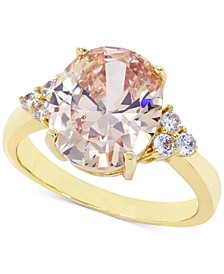 Gold-Tone Pavé & Oval Crystal Ring, Created for Macy's