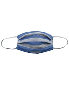 Adult Striped Pleated Cloth Face Mask
