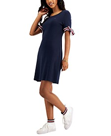 Cotton Tie-Sleeve Dress