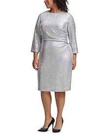 Plus Size Silver Bodycon Dress
