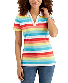 Rainbow Stripe Polo Shirt