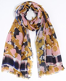 WATERY PLAID FLORAL WRAP