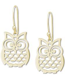 Owl Drop Earrings, Created for Macy's