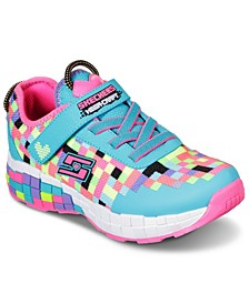 Little Girls Mega-Craft Power Pixels Casual Sneakers from Finish Line