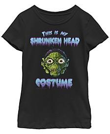 Big Girls Goosebumps Classic Shrunken Head Costume Short Sleeve T-shirt
