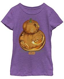 Big Girls Star Wars - Episode 7 BB Pumpkin Logo Short Sleeve T-shirt