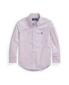 Toddler Boys Tattersall Poplin Shirt