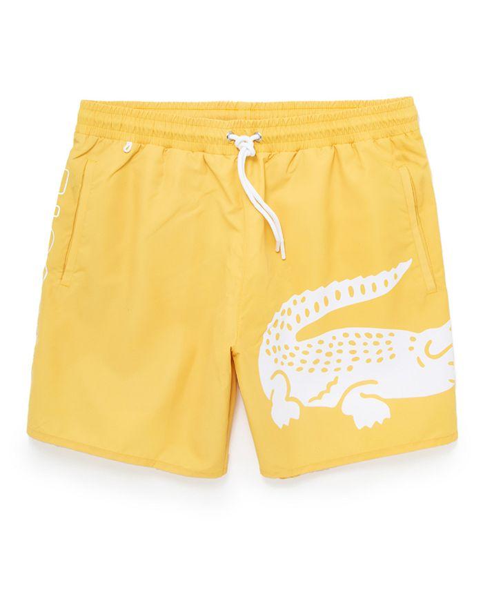 Lacoste - Men's Quick-Drying Printed Swim Trunks