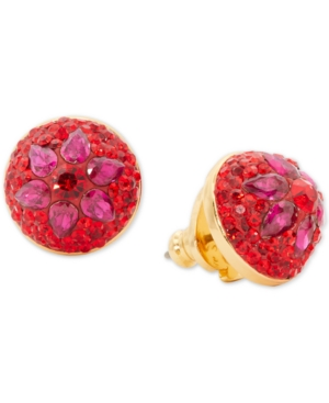Kate Spade Women's Brilliant Statements Flower Motif Dome Stud Earrings In Red Multi
