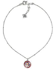 "Silver-Tone Cameo Pendant Necklace, 15-4/5"" + 3"" extender"