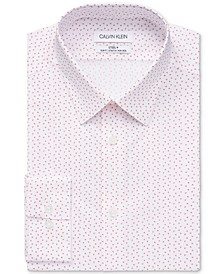 Calvin Klein Men's Slim Fit Non-Iron Stretch Performance Steel Dress Shirt