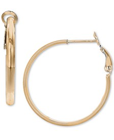 "Small Polished Hoop Earrings in 18k Gold-Plated Sterling Silver, 0.79"", Created for Macy's"