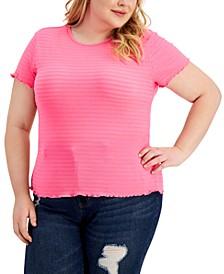 Trendy Plus Size Pretty Pucker Smocked Top