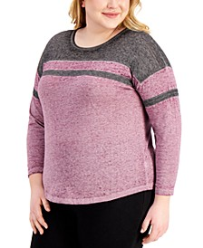 Trendy Plus Size Burnout Top