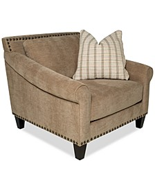 """Arold 43"""" Fabric Chair and a Half, Created for Macy's"""