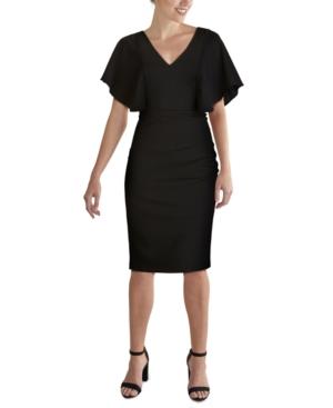 Cape-Sleeve Dress