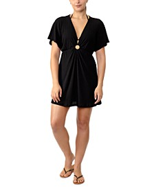 Juniors' Solid Ring-Front Cover-Up, Created for Macy's