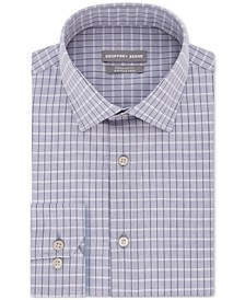 Men's Classic/Regular Fit Non-Iron Dress Check Dress Shirt