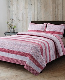 Stripe Quilt 3 Piece Set, Full/Queen