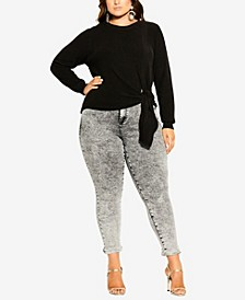 Women's Trendy Plus Size Royal Sweater