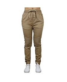 Women's Loose Fit Twill Cotton Stretch Moto Jogger
