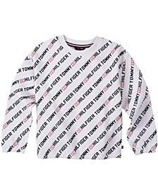 Big Girl's All-Over Printed Crewneck Sweatshirt