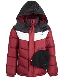 Big Boys Chevron Puffer Coat