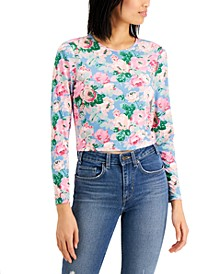 Floral-Print Cropped Top