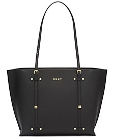 Leather Bo Crosshatched Tote