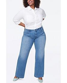 Plus Size Wide Leg Trouser Jeans