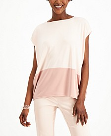 Petite Sleeveless Colorblock Top, Created for Macy's
