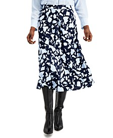 Petite Button Down Midi Skirt, Created for Macy's
