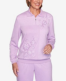 Long Weekend Spliced Asymmetric Floral Sweatshirt