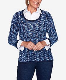Women's Missy Hunter Mountain Eyelash Two-for-One Sweater