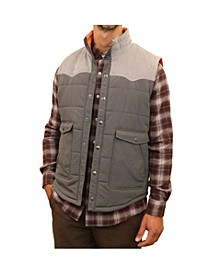 Men's Mixed Media Western Quilted Vest