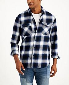 Men's Aussie Plaid Flannel Shirt, Created for Macy's