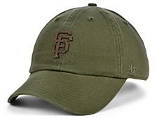 San Francisco Giants Double Faux-Leather Clean Up Cap