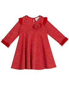 Baby Girls Lurex Long-Sleeve Dress