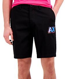 Bold Fluorescent Logo Shorts, Created for Macy's