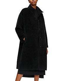 Stand-Collar Wool-Blend Coat