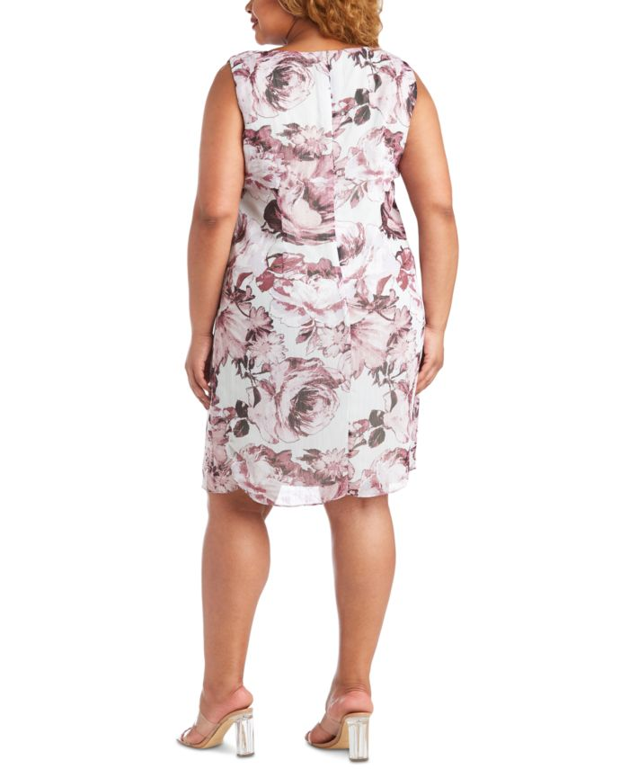 R & M Richards Plus Size Floral-Print Jacket & Dress   & Reviews - Dresses - Plus Sizes - Macy's