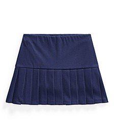 Little Girls Pleated Stretch Ponte Skort